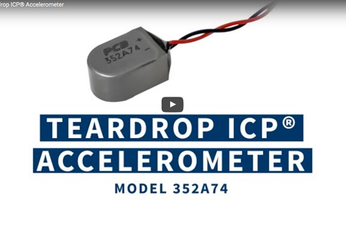 Teardrop ICP® Accelerometers with Flexible, Integral Cable