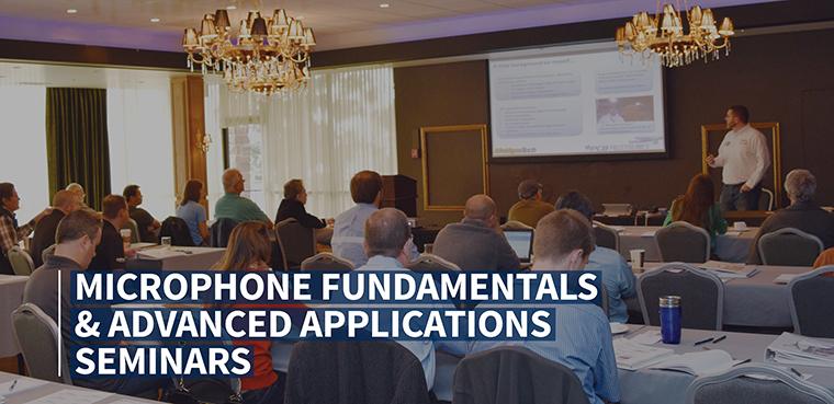 Announcing - Acoustics Seminar and Webinar Events